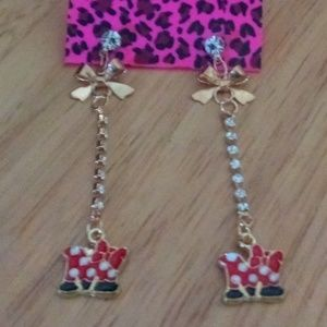 Betsey Johnson Minnie Mouse Earrings